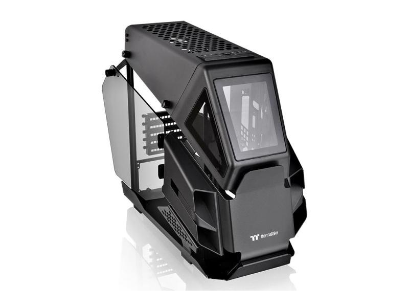 Thermaltake AH T200 Mikro Gamer Gehäuse - Echtglasfenster - Schwarz DGH-000221
